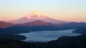 冬の紅富士! 神奈川県 箱根 富士見峠 ~ 美しい紅富士を見よう!
