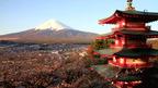 冬の紅富士! 山梨県 新倉山浅間神社 ~ 美しい紅富士を見よう!
