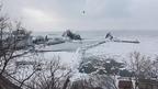 流氷迫るウトロ一望!冬の「夕陽台」 @北海道斜里町(知床) Shiretoko Yuhidai Driftice View, Hokkaido