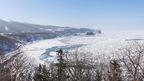 流氷がびっしり!プユニ岬からの眺望 @北海道斜里町(知床) Shiretoko Cape Puyuni Driftice view, Hokkaido
