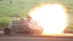 2014年富士総合火力演習=島しょ部奪回を想定した統合的な作戦展開