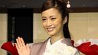 上戸彩、優雅な着物姿で登場!「似合う年齢になったのかな」 「京都 世界遺産登録 20周年記念 元離宮二条城 史上初の試み」発表会(1)