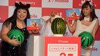 篠崎愛&渡辺直美、猫コスプレで報道陣を魅了