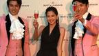 河北麻友子、初めてのお酒「シャンパン」 バースペース『モエ ロゼ ラウンジ』のオープニングセレモニーイベント