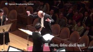 J.Brahms Ein deutsches Requiem, op.45 Ⅲ.Herr, lehre doch mich   orchestra JAPAN2011 ,Quodlibet Chor